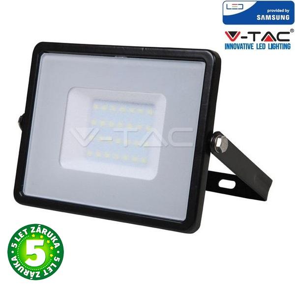 Prémiový ultratenký LED reflektor 30W 2400lm SAMSUNG čipy černý, denní