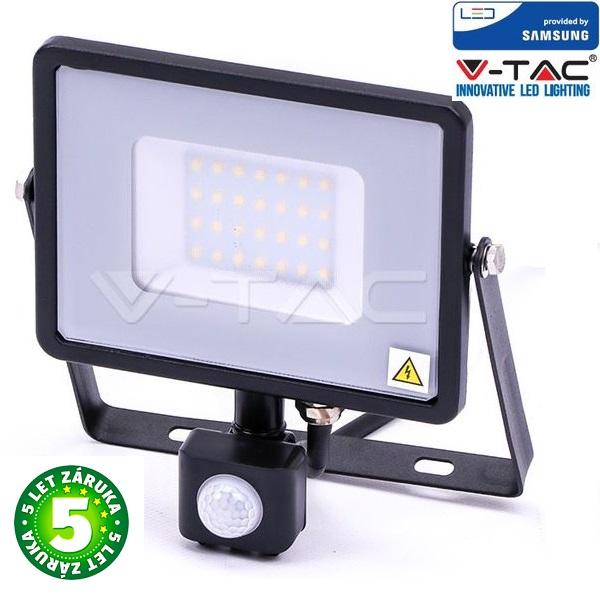 Prémiový ultratenký LED reflektor 20W 1600lm s čidlem SAMSUNG čipy studená