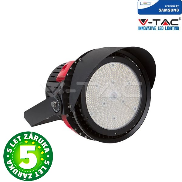 Prémiový LED reflektor 500W 67500lm SAMSUNG čipy černý, studený