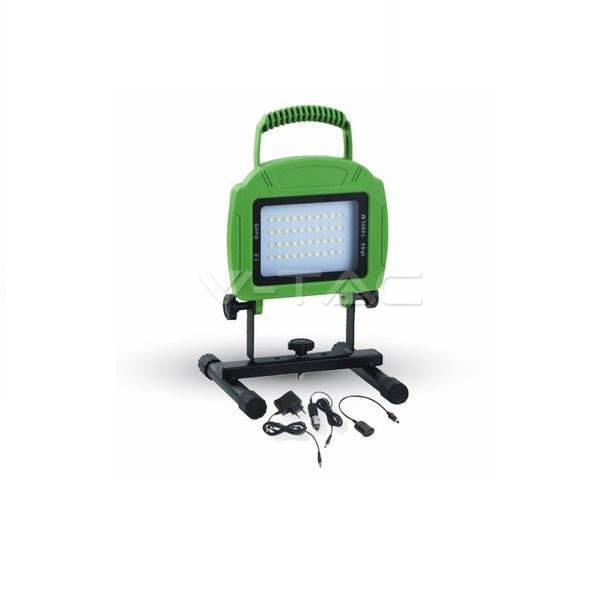 Ultratenký nabíjecí LED reflektor 20W 16000lm studená