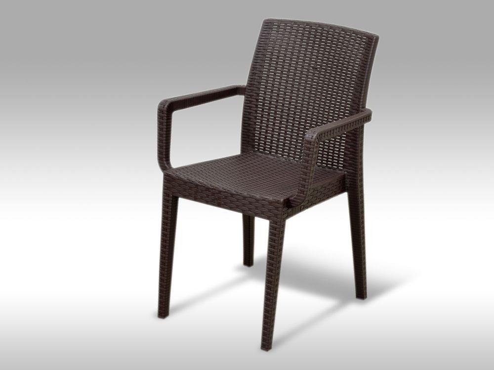 Zahradní plastová židle Alicante hnědá