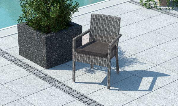 Židle z umělého ratanu Falco šedá