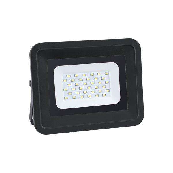 Ultratenký LED reflektor černý   20W 1700lm teplá
