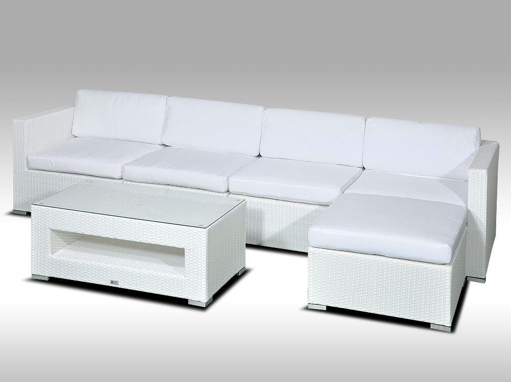 Luxusní rohová sedací souprava ALLEGRA IX bílá 4-5 osob + DÁREK