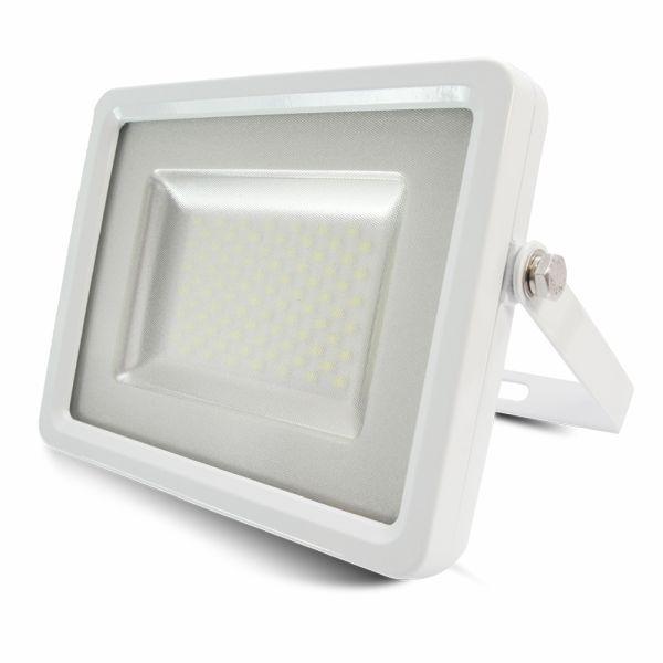 Ultratenký LED reflektor bílý 100W 8000lm teplá