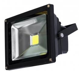 LED reflektor černý 10W 700lm COB teplá