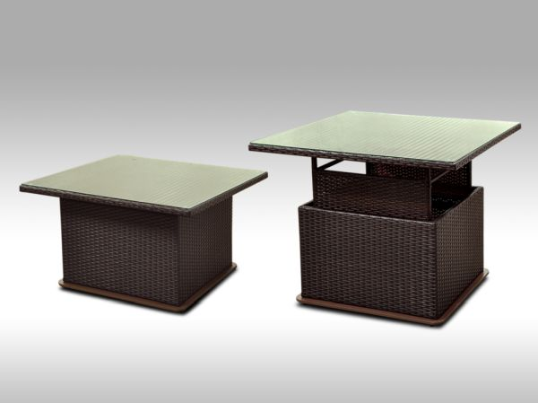 Polohovatelný stolek Lorenzo hnědý