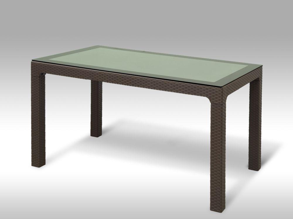 Plastový zahradní stůl Madrid hnědý