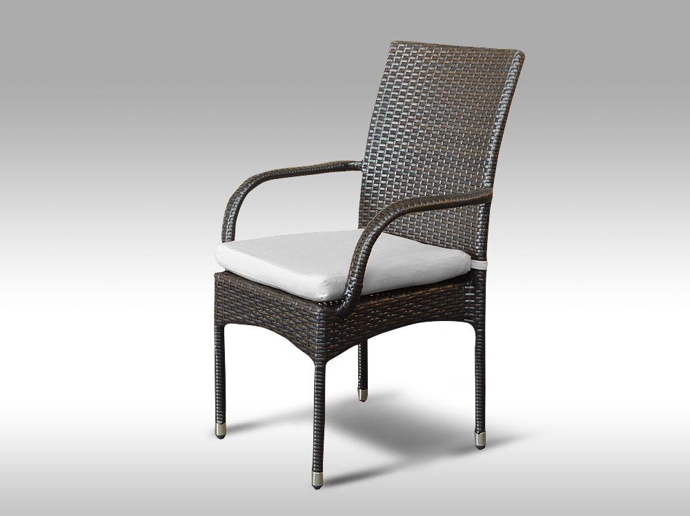 Židle z umělého ratanu Pietro hnědá