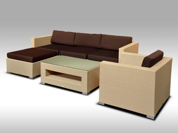 Luxusní rohová sedací souprava ALLEGRA 8 písková 4-5 osob + DÁREK