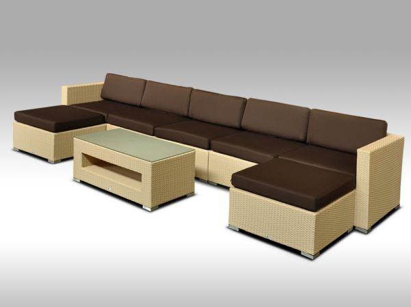 Luxusní rohová sedací souprava ALLEGRA 11 písková 5-7 osob + DÁREK