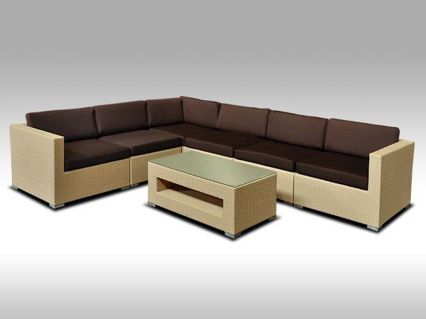 Luxusní rohová sedací souprava ALLEGRA 14 písková 5 osob + DÁREK