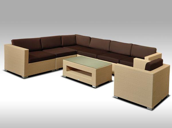 Luxusní rohová sedací souprava ALLEGRA 15 písková 6 osob + DÁREK