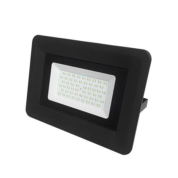 Ultratenký LED reflektor černý  70W 5950lm studená