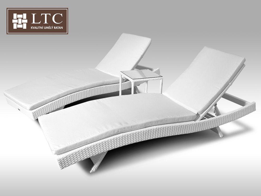 Set 2 lehátka Tito a 1 stolek Marco bílý