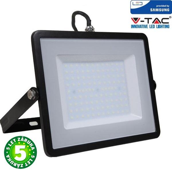 Prémiový ultratenký LED reflektor 100W 8000lm SAMSUNG čipy černý, teplá