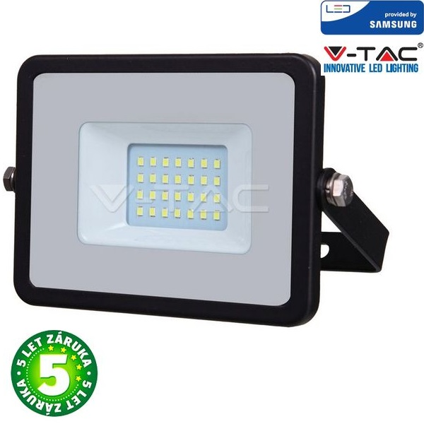 Prémiový ultratenký LED reflektor 20W 1600lm SAMSUNG čipy černý, studená